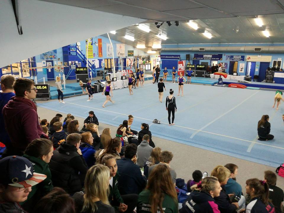 Gymnastics compete at BUCS for first time