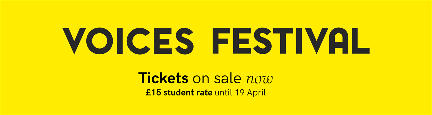 Voices Festival. Get your ticket now