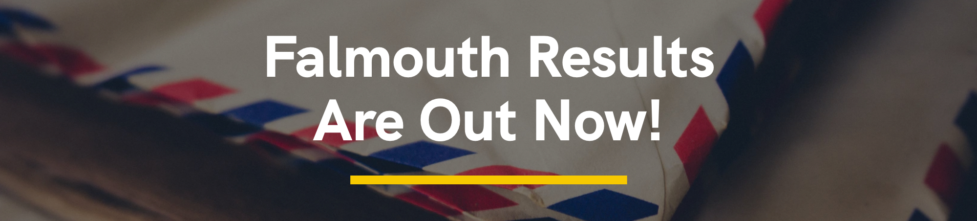 Falmouth Results Qre Out Now!