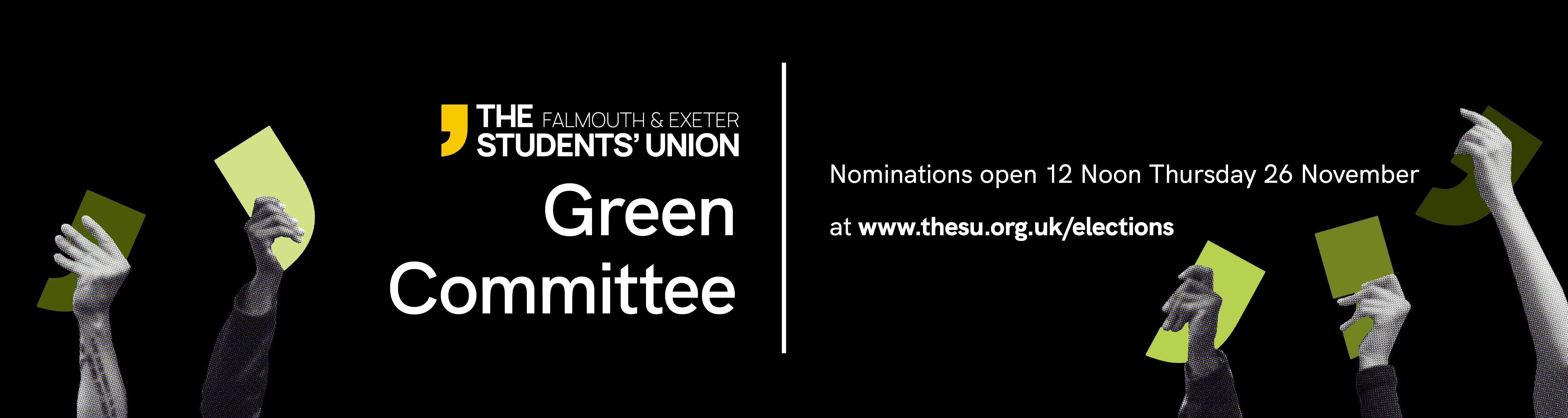 Green Committee Elections - nominations open 12 noon Thursday 26 November