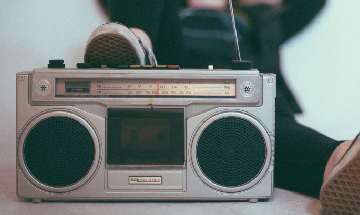 Photo of a boombox