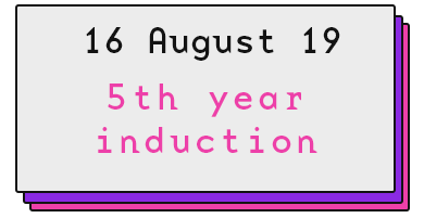 5th Year Induction