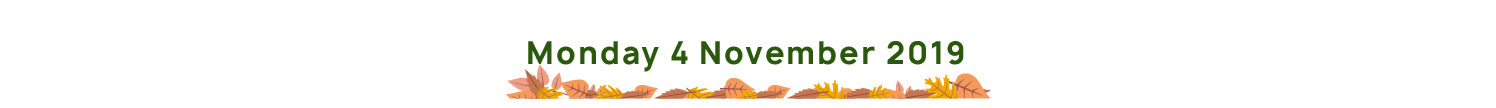 Monday 4th November 2019