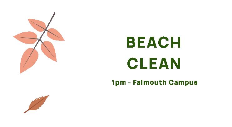 Beach Clean, 1pm, Falmouth Campus
