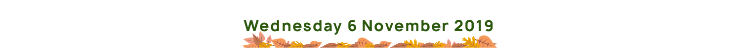 Wednesday 6th November 2019